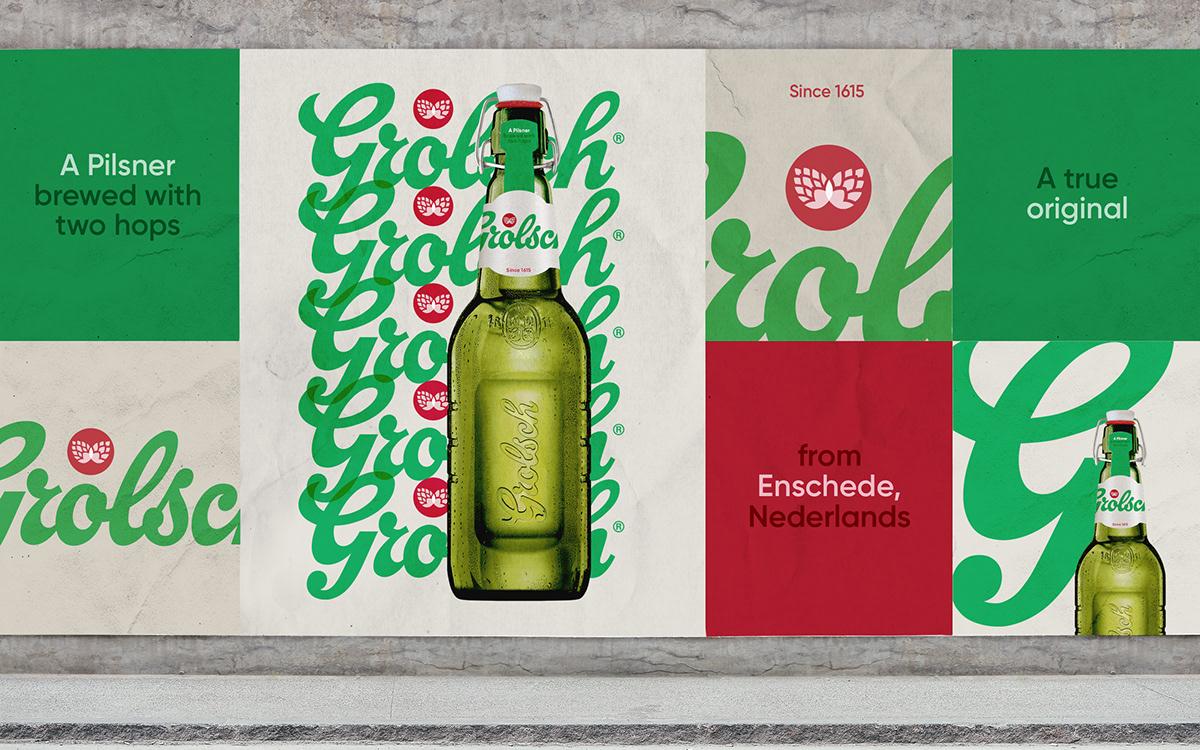 Grolsch alcohol beer pilsner asahi green can bottle refresh Rebrand