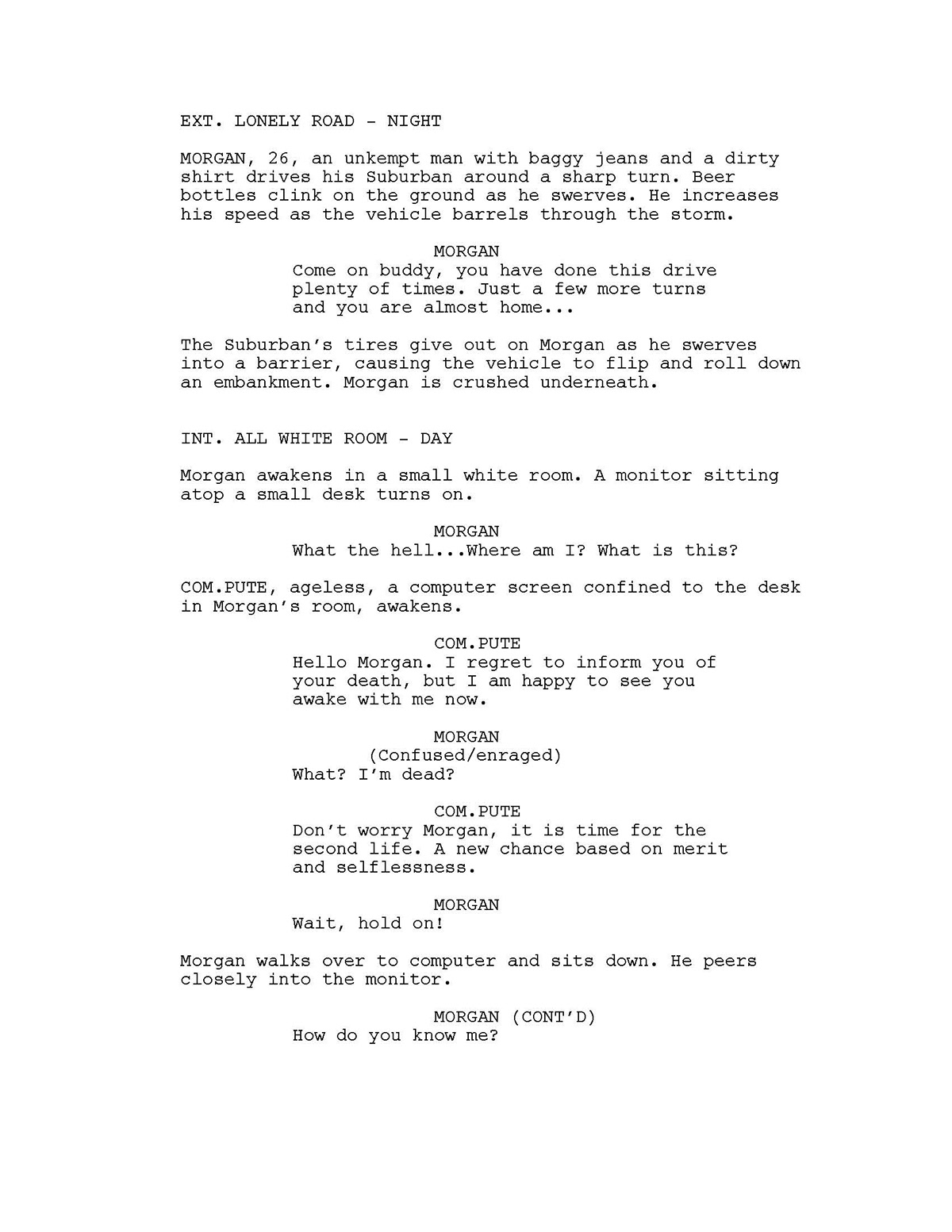 Re-Birth (Short Film Script) on Student Show