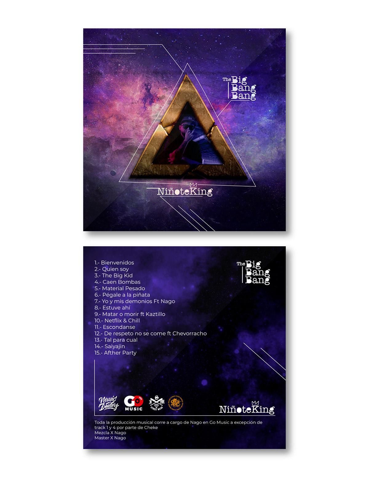 cover disc diseño gráfico graphic design  hip hop music rap