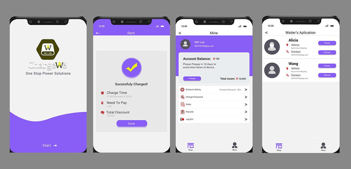 mobile app UI ux design Web