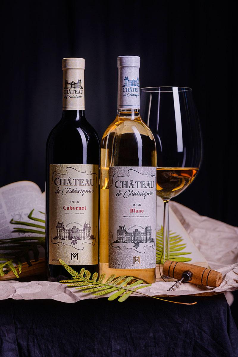 de Châtaignier wine chateau vin alcohol france brand