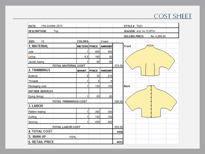 "cost sheet Create a new cost sheet template the following procedure describes how create a cost sheet template this will be a ""blank"" template with no rows and two default columns."