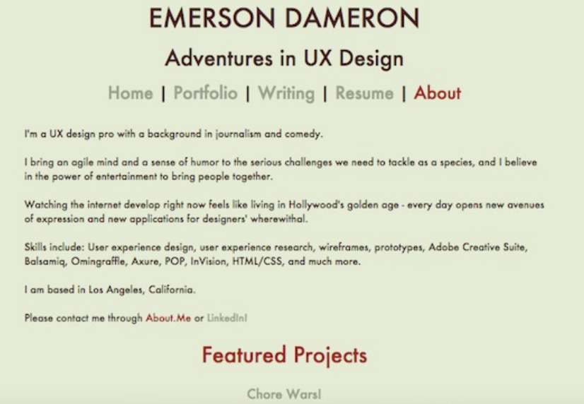 personal branding user experience color HTML css github