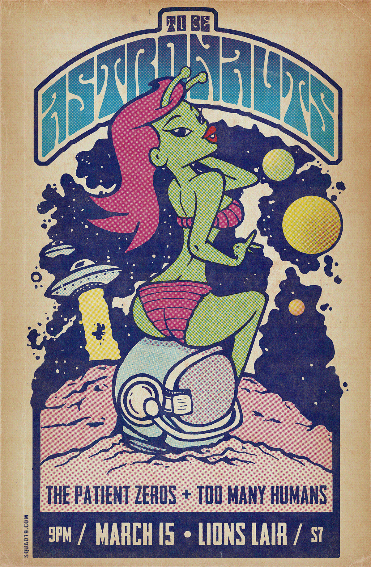 GigPoster ILLUSTRATION  pinup poster Space