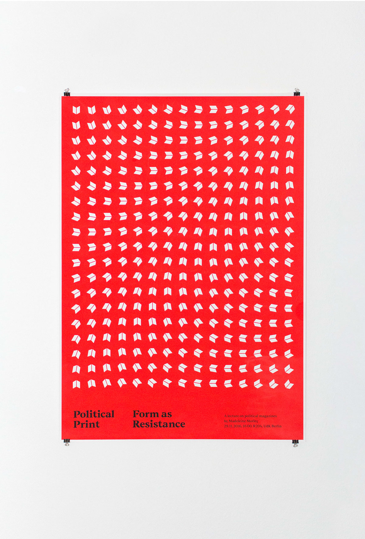 poster screen printing neon magazine Dynamic grid