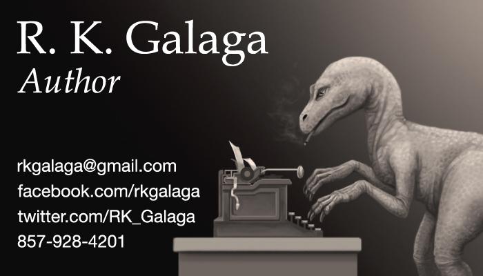 R. K. Galaga business card