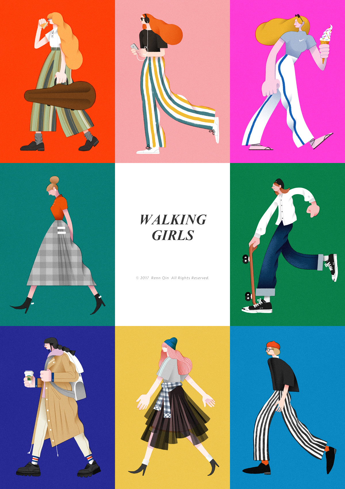 walk girl Fashion