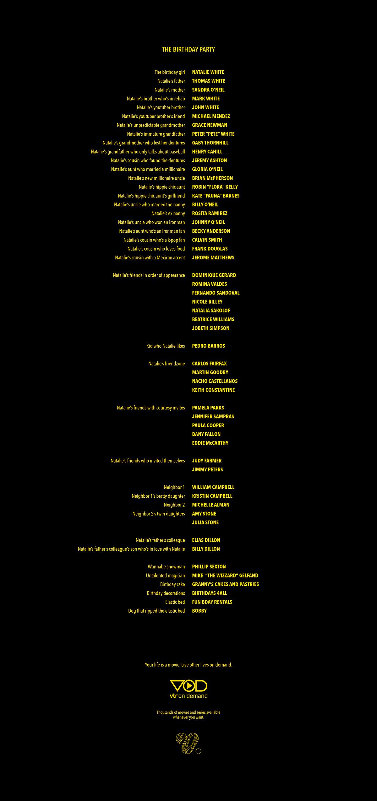vtr - vod - film - credits - movie on behance  behance