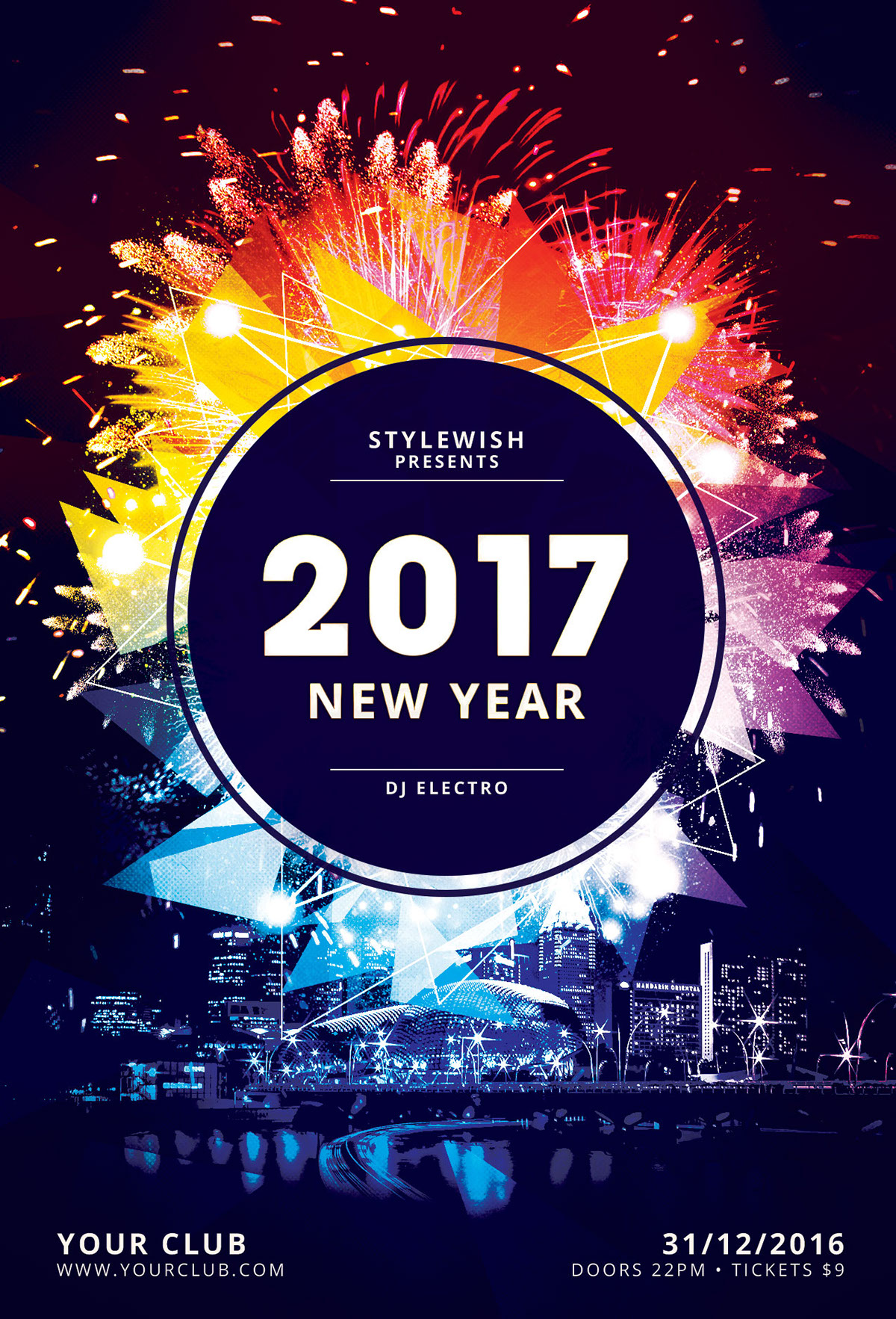 new year flyer template on behance