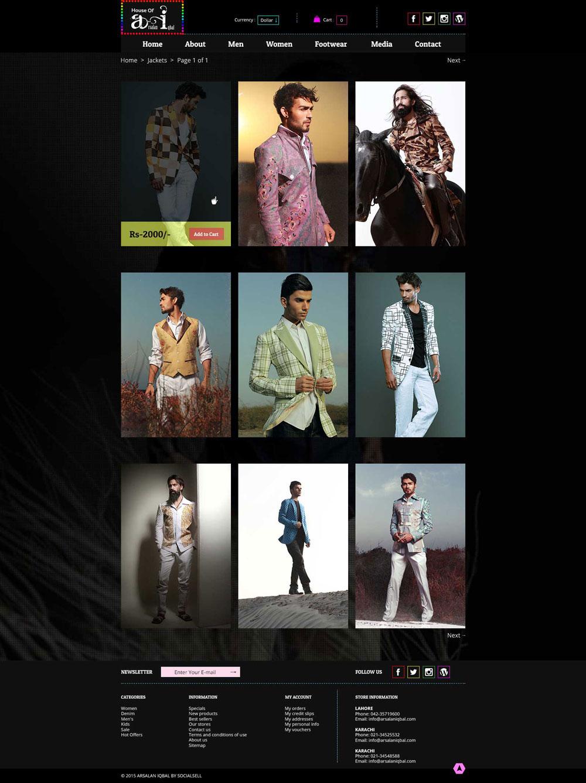graphic design Website arsalan iqbal Fashion  brand UI ux UI/UX