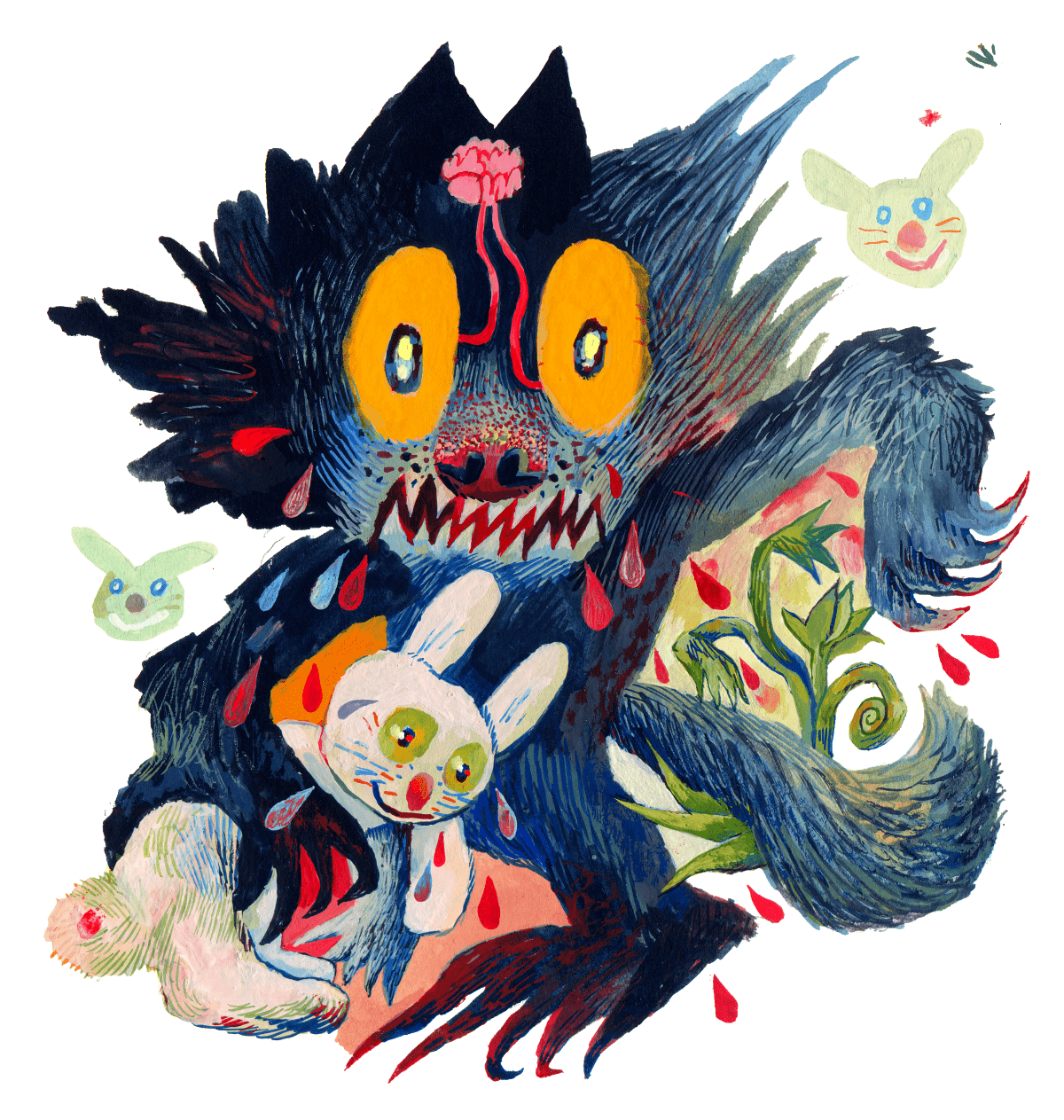 Personal Illustration self-initiated wolf