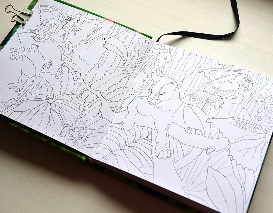 copic markers hand drawn illustration Drawing  marker illustration tropic animals Flowers Flower Illustration flower pattern pattern