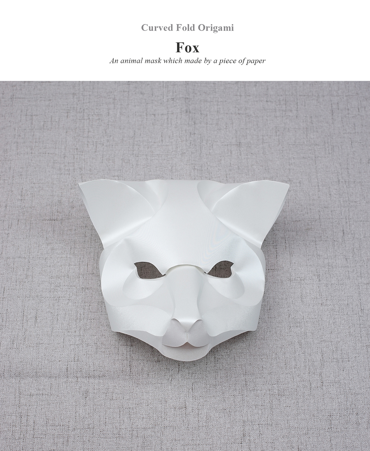 Curved fold origami fox on behance jeuxipadfo Image collections