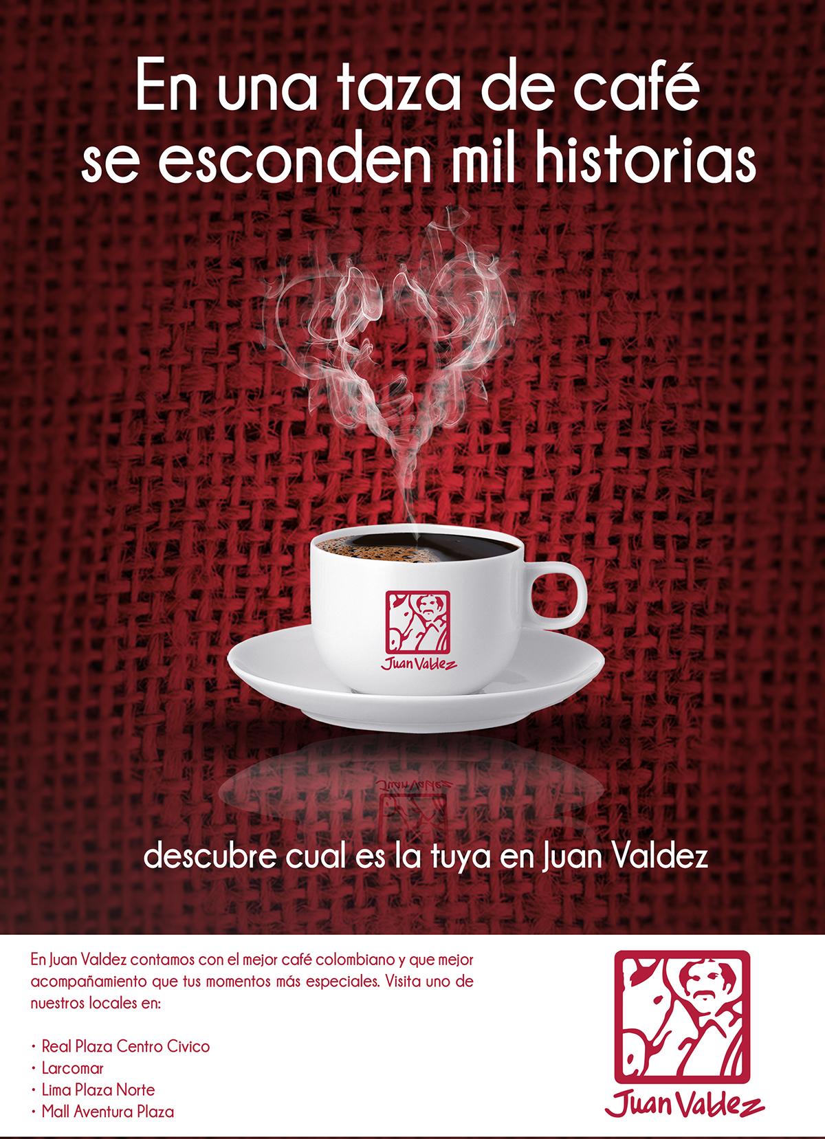 El café es esa tercera persona que nos acompaña y que mejor acompañamiento  que el mejor café colombiano Juan Valdez.