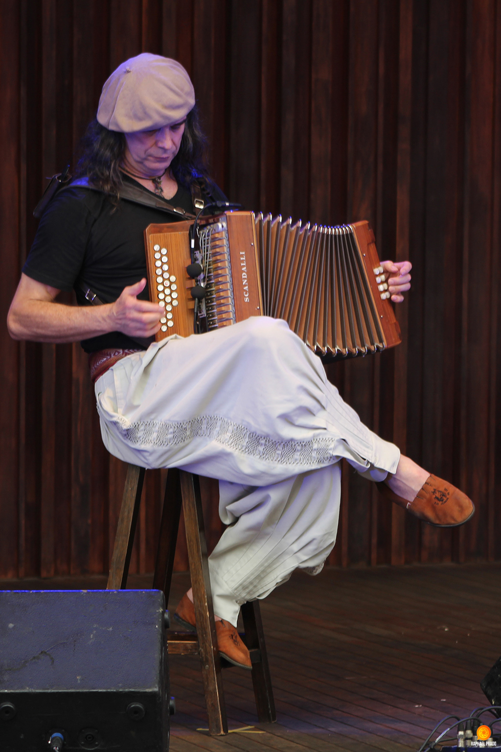 Image may contain: person, musical instrument and accordion