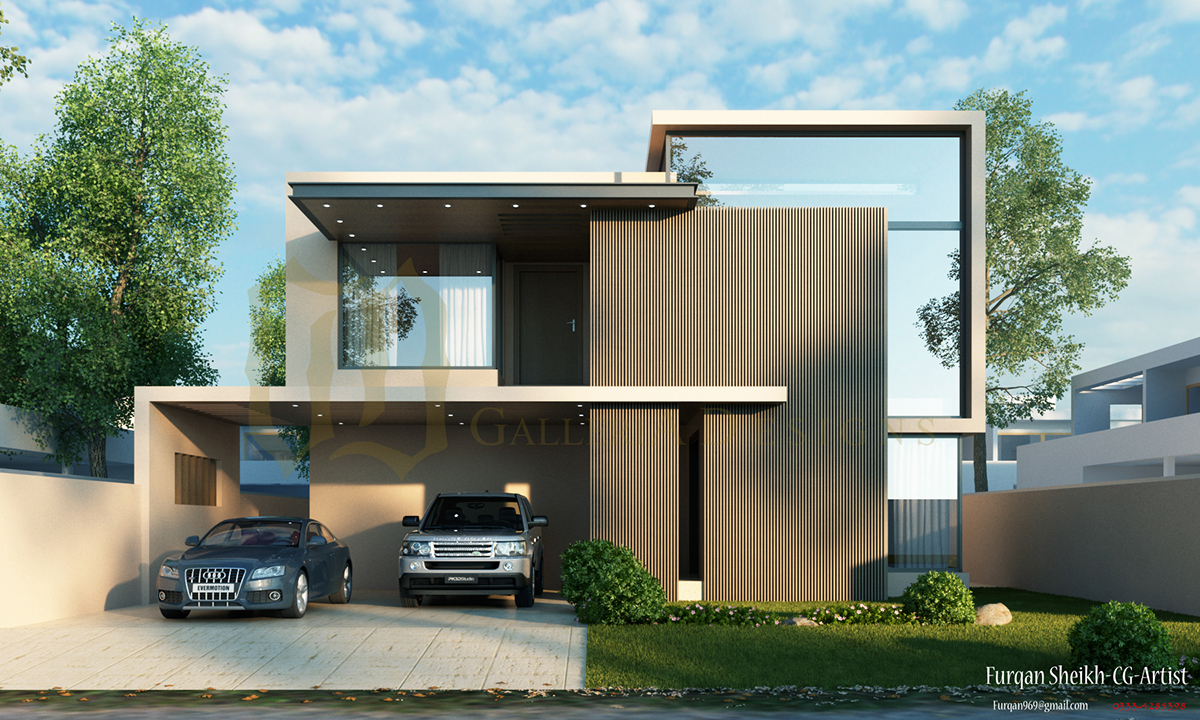 Front Elevation Of Bed : Kanal house design by galleria on behance
