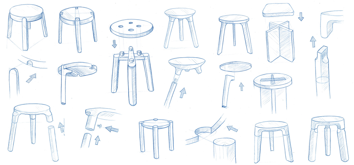 Flatpack furniture assembled built Ikea Furniture The Goal Was To Design Stool That Was Intuitive To Assemble Built To Last And Able To Ship Flat Without Having The Look Of Flat Pack Furniture Object Guerilla Basic Stool On Behance