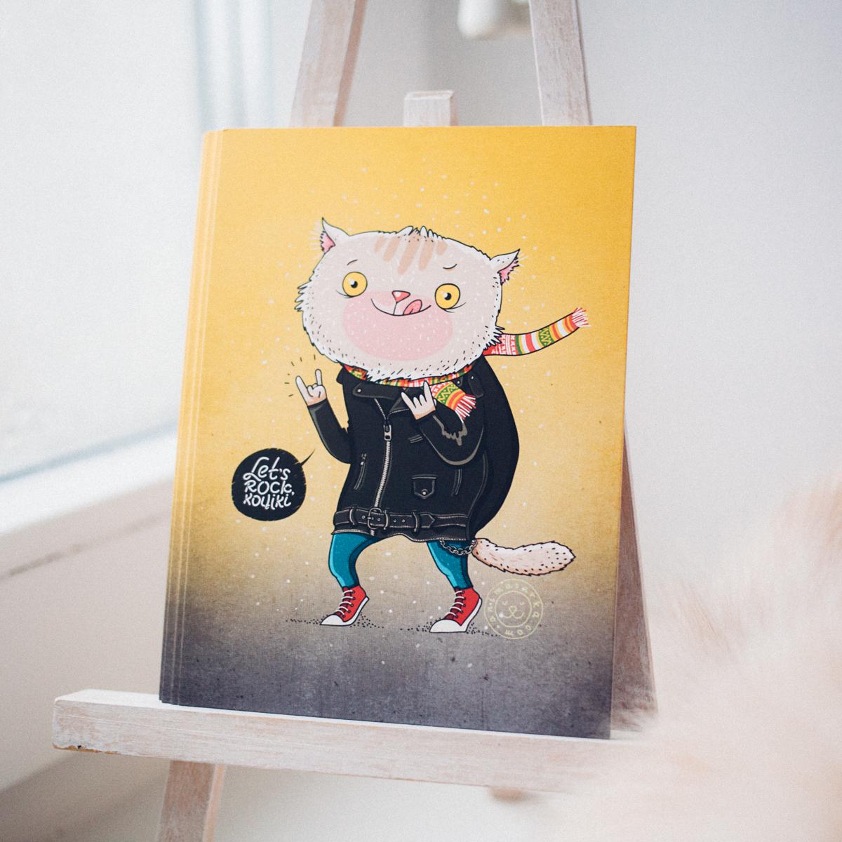 cats postcard rock