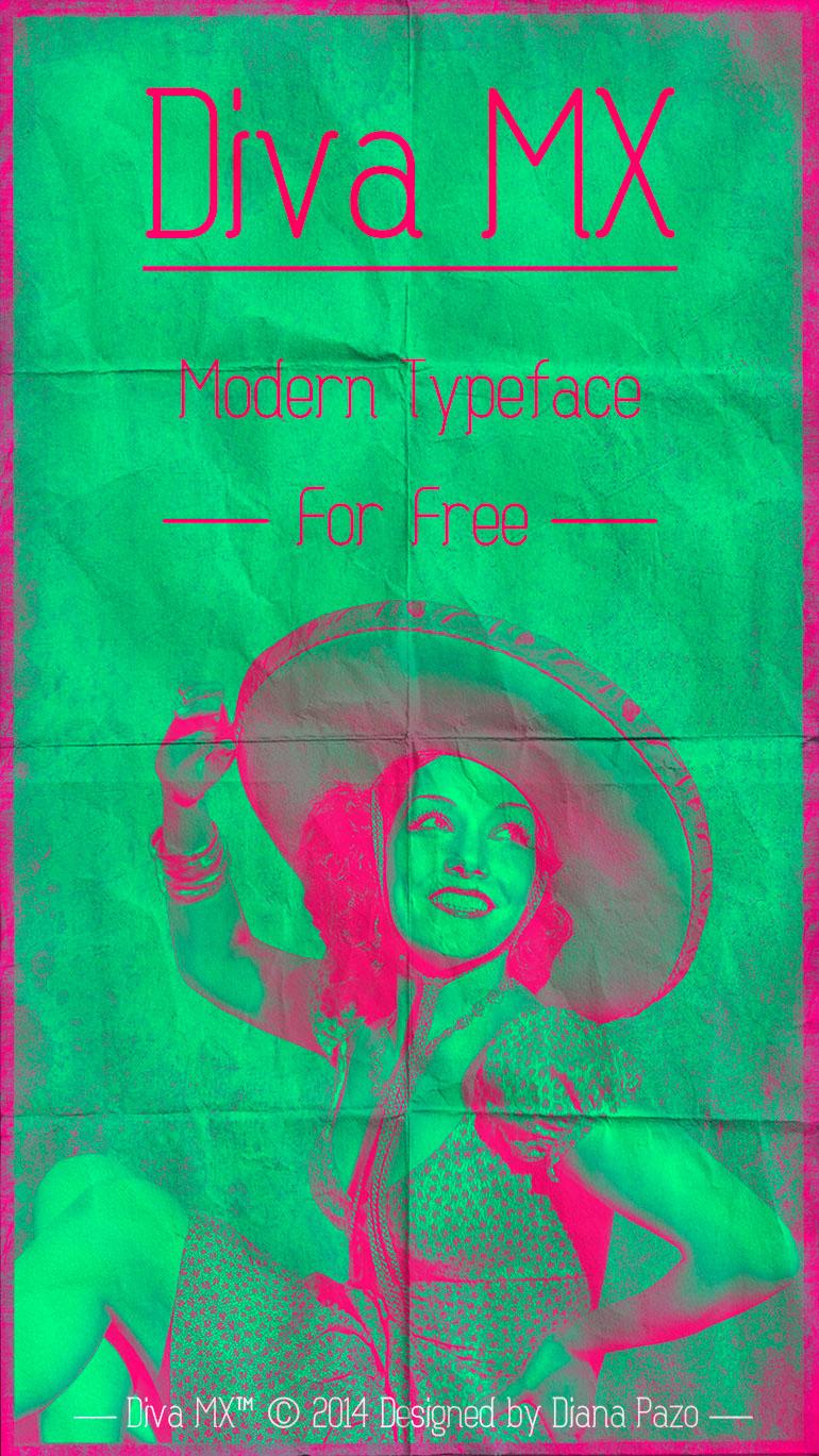 free font diva diva mexicana diva mx editorial Free font Typeface free typeface