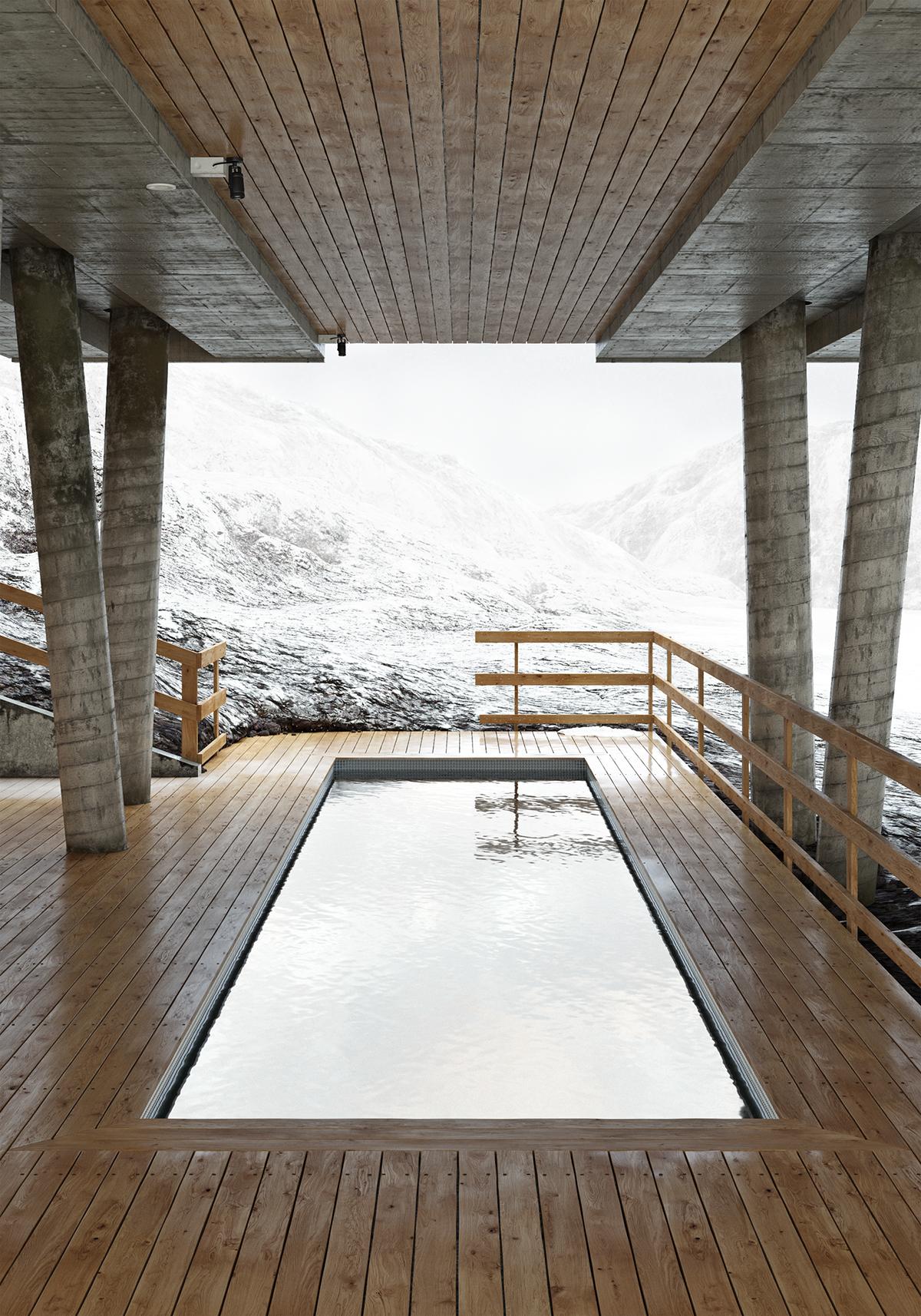 corona render  ION Luxury Adventure Hote exterior hotel CGart 3D Render