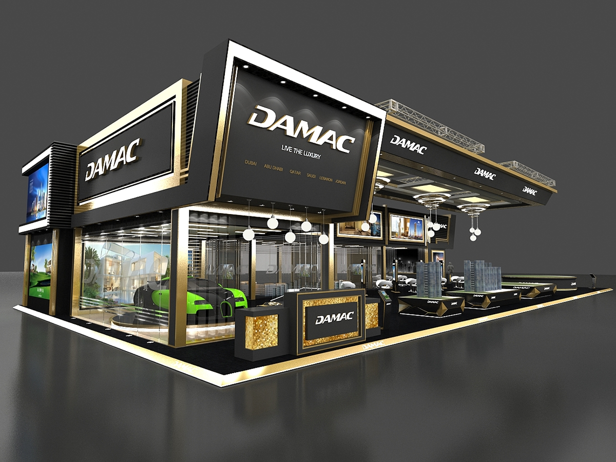 Exhibition Stand Behance : Damac exhibition stand on behance