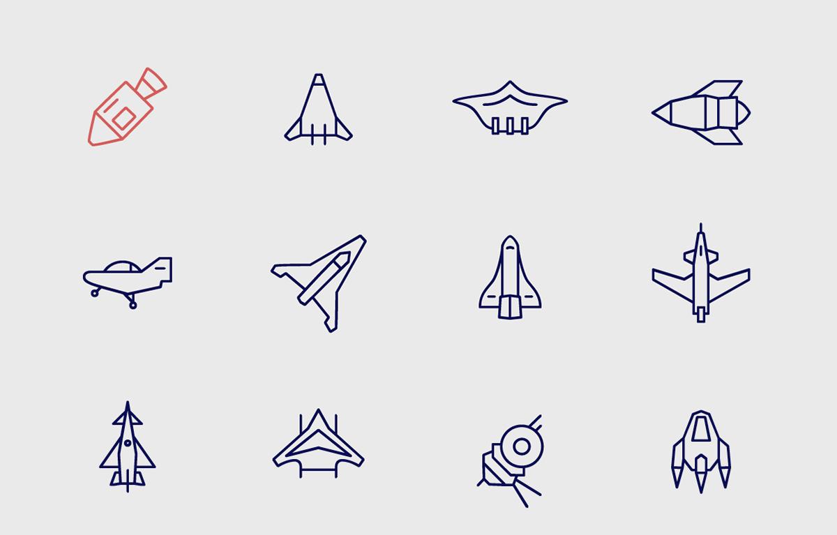 Space  Space Icons Icon icons symbol pictogram star wars spaceship satellite asteroid planet solar system earth free #TYPO16xAdobe