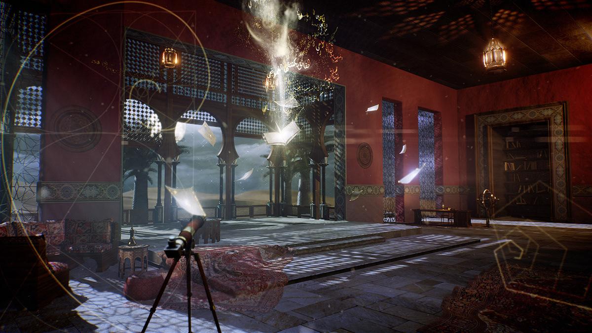 3d animation 3d modeling 3d studio cinematic desert golden age old house set design  studio design virtual studio