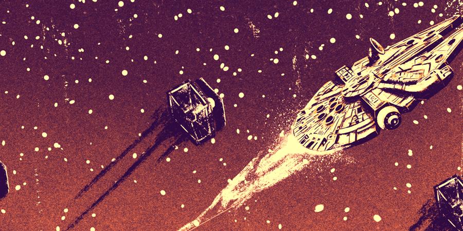 star Wars force awakens Episode VII KYLO lightsaber poster print design