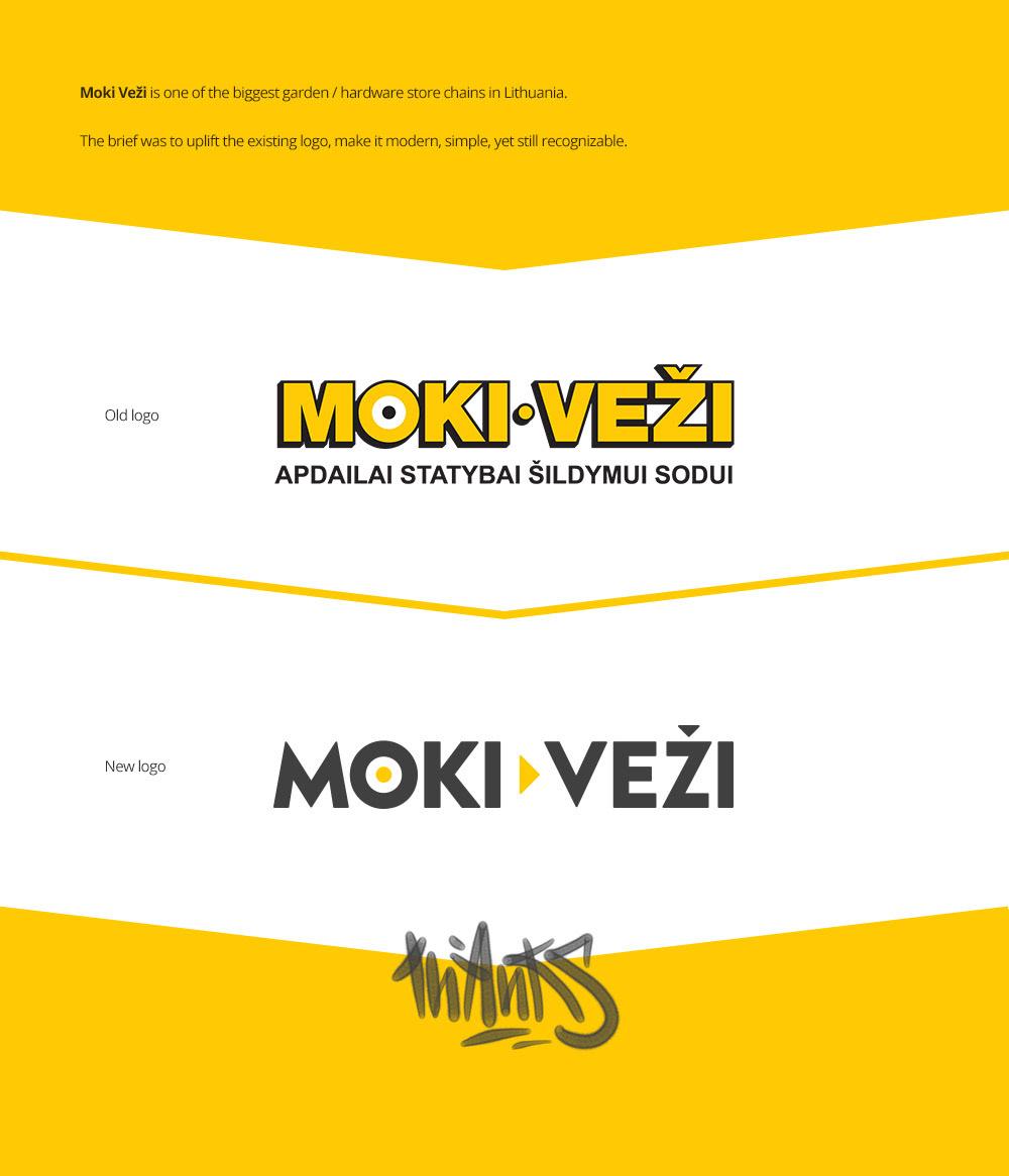 logo Rebrand branding  mokivezi hardware lithuania logodesign logouplift Uplift