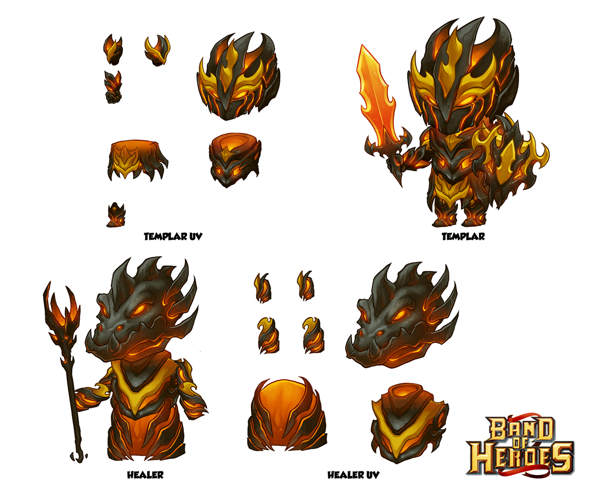 Band of Heroes   Fire Armor on Behance