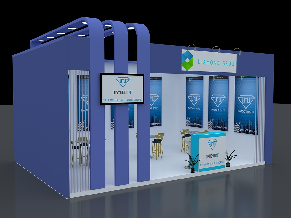 3d Exhibition Design : Exhibition d stall design on student show