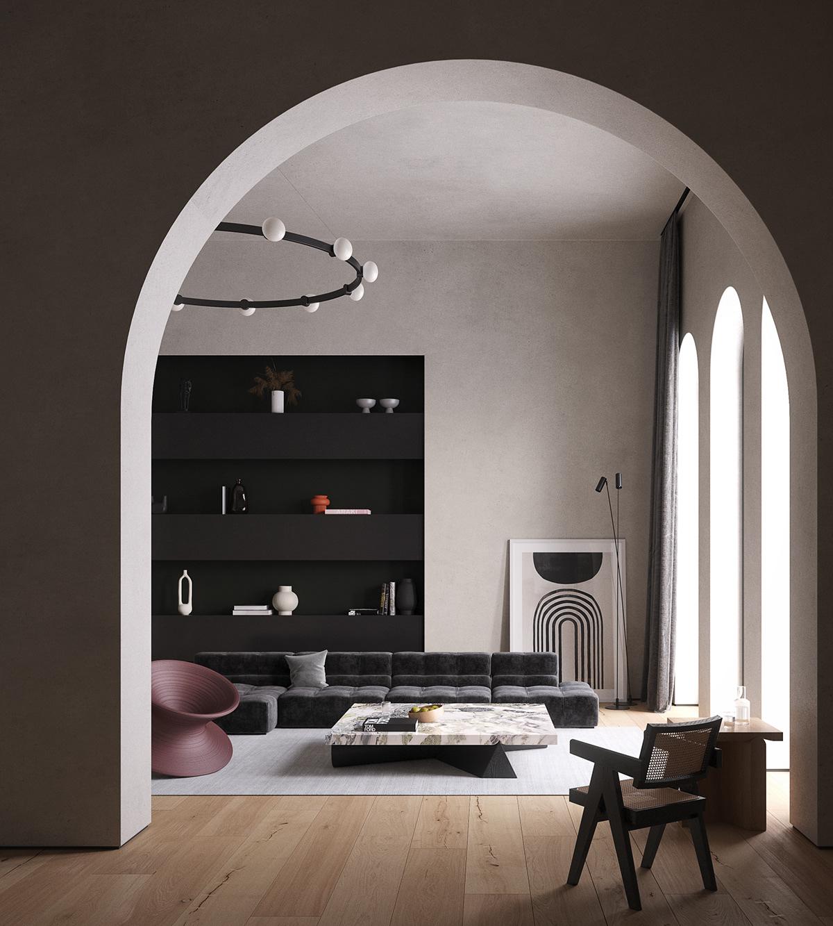 3D architecture CG CGI corona design Interior Render visualization vray