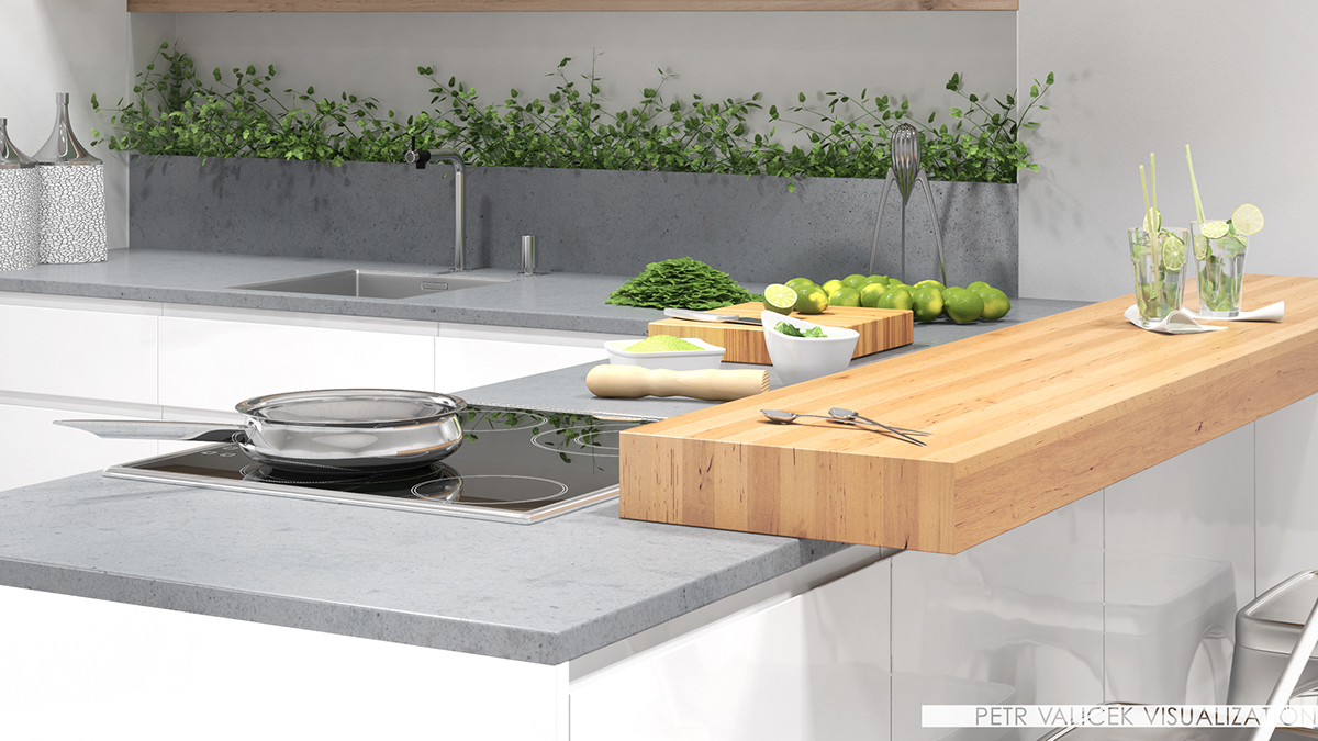 kitchen Sykora architecture Interior design vizualisation