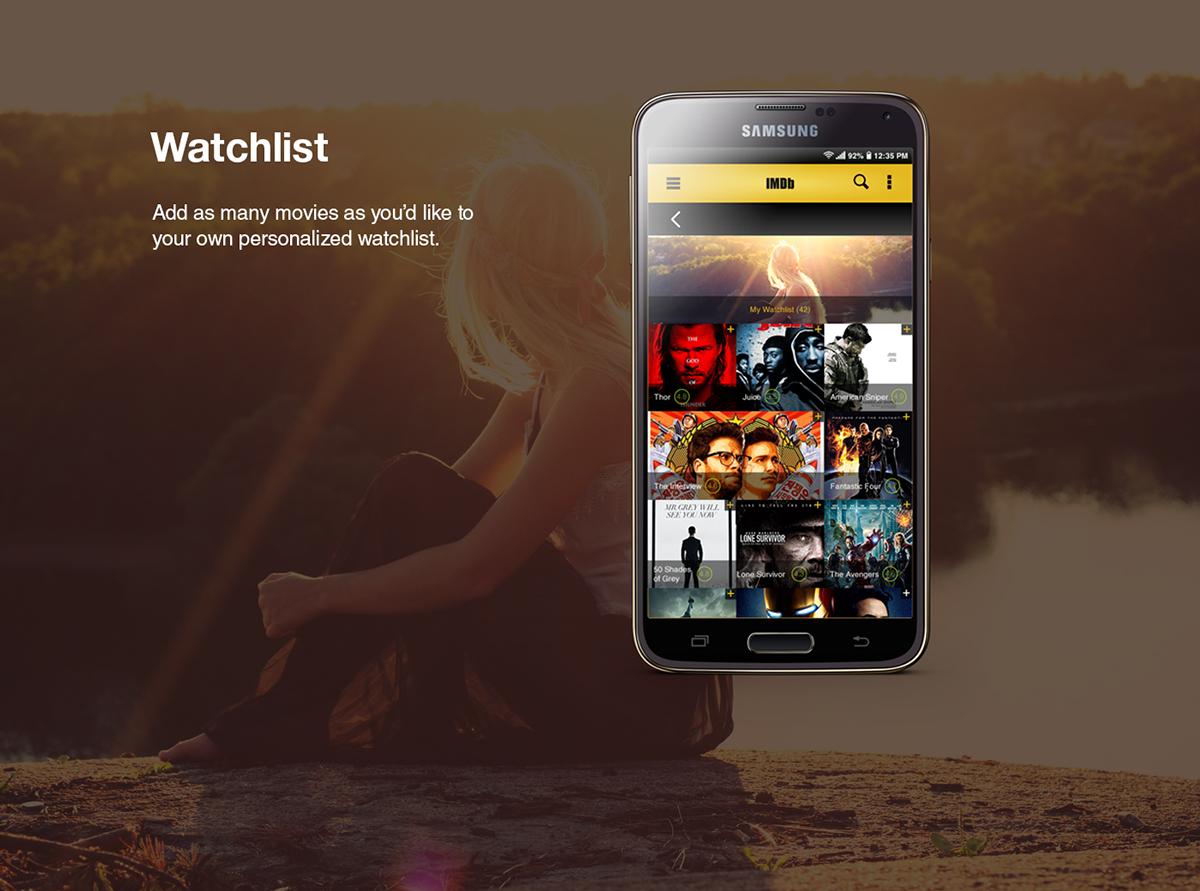 IMDb Android App Concept on The Art Institutes Portfolios