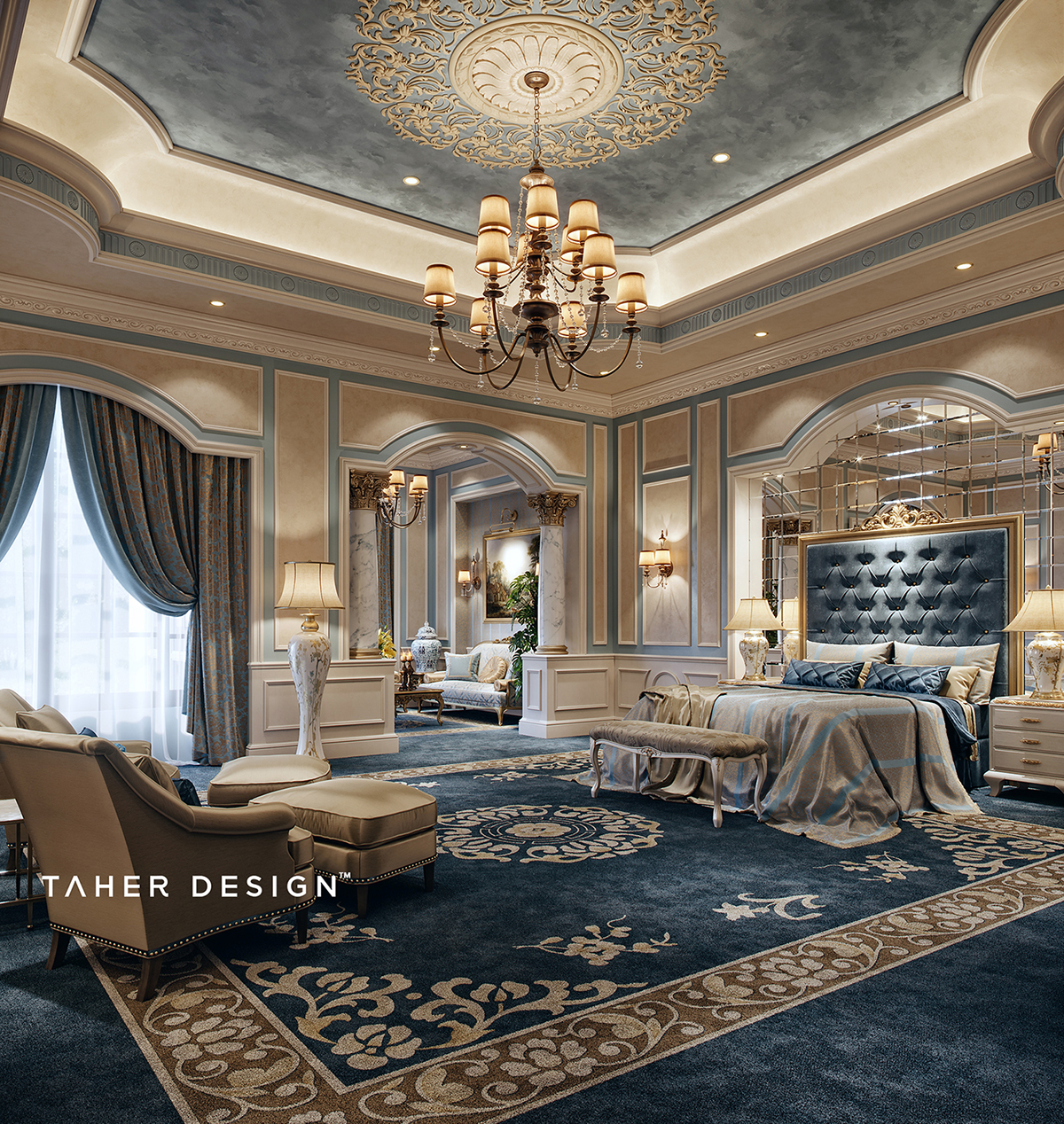 "Big Bedroom: Luxury Master Bedroom "" Dubai"" On Behance"