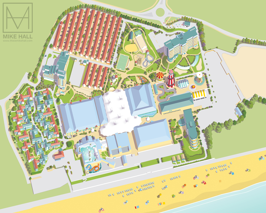 Butlins Minehead Map Resort maps for Butlins on Behance