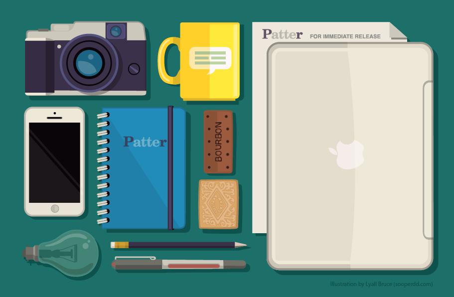 Patter PR Illustration alternative colour