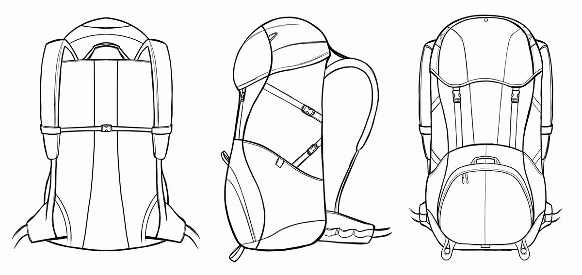 чертежи рюкзака фото оригинальные рюкзаки форм оттенков