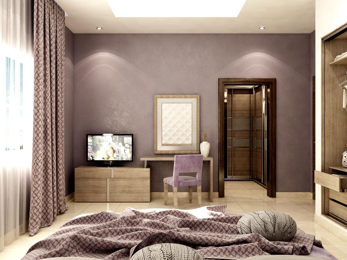 modern single bedroom on Behance