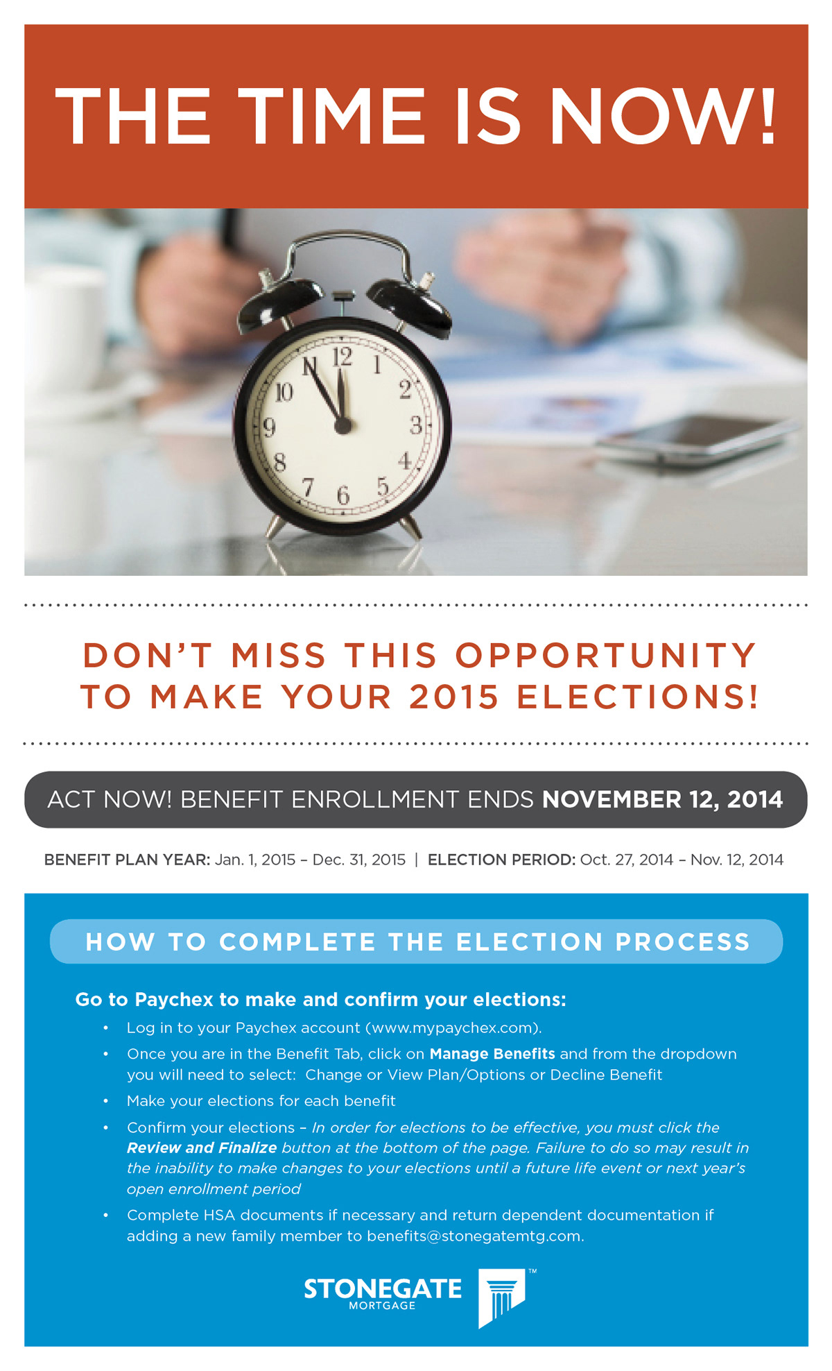 benefit Enrollment poster ad