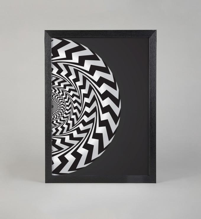 print art decoration Kickstarter art print poster Illustrative sculptural Interior contrast ouroboros Mandala yin yang buddhism