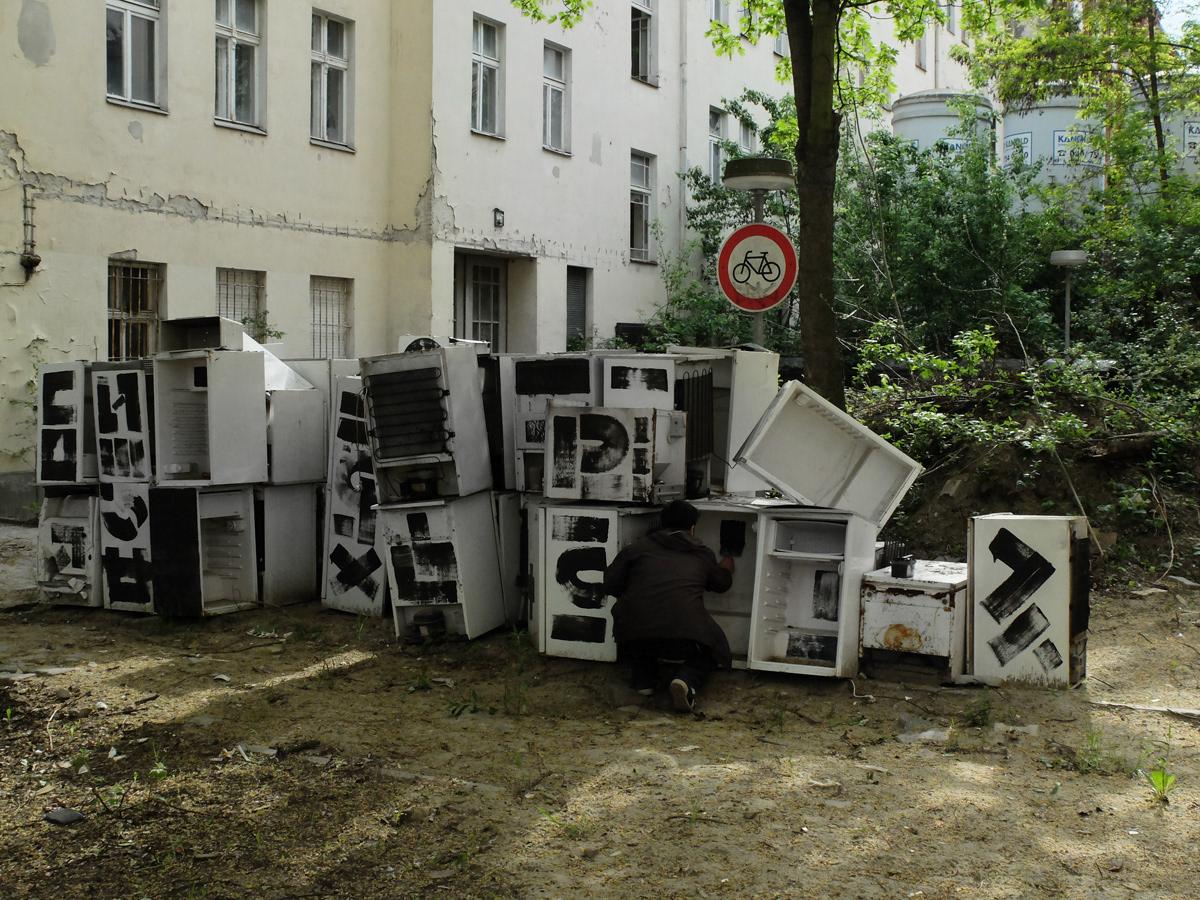 the krank Berlin art installation urban art typography   intervention berlin KRANK