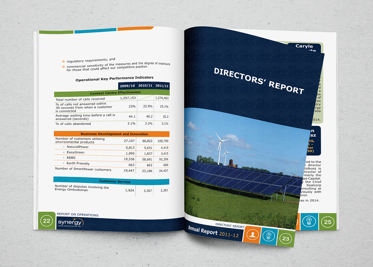 annual report design layout not from template designed from scratch financial report document design tables sections footers