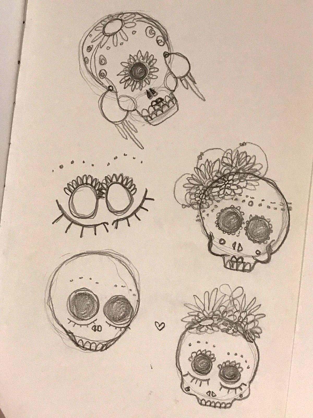 stephanymarlen3 ink watercolor portrait time face women sketch color mexico