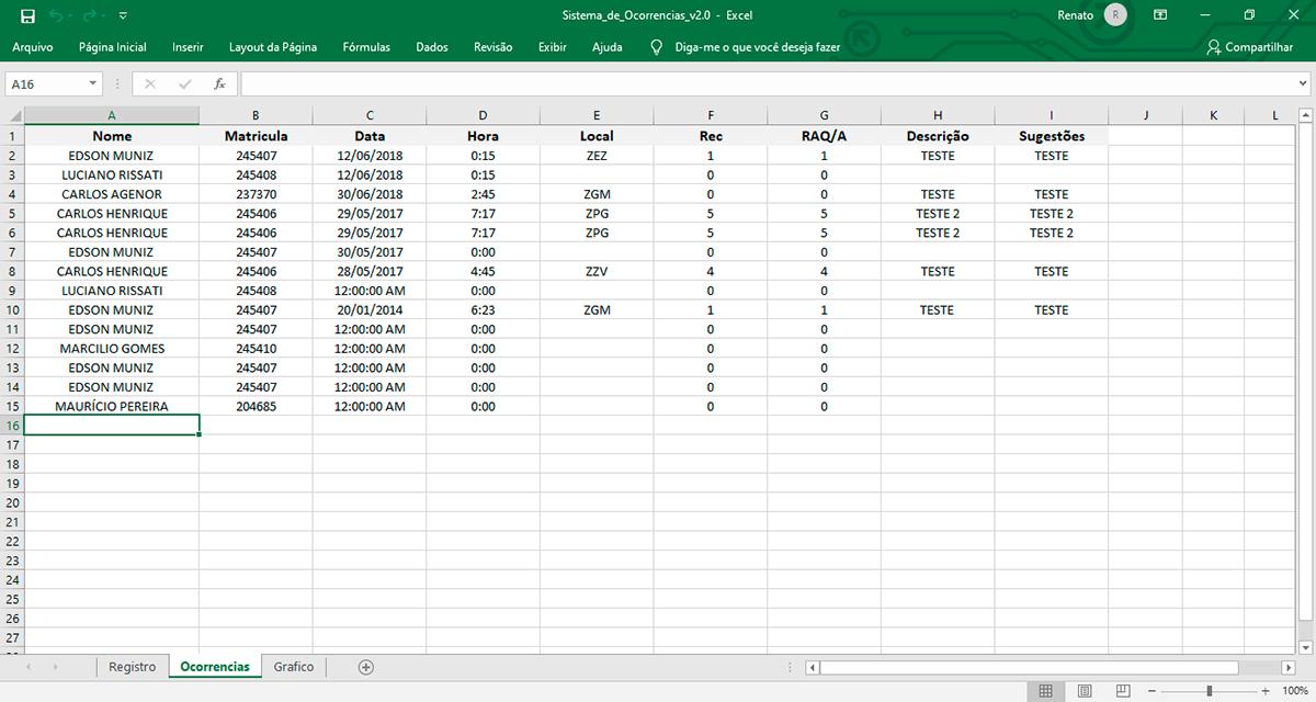 criação Excel programação VBA