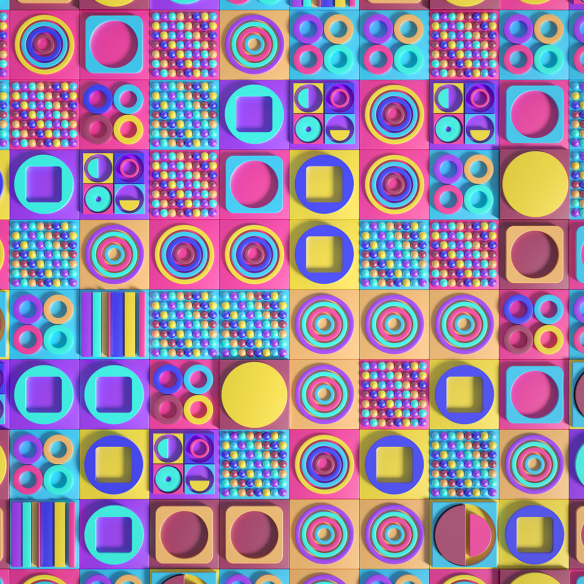Image may contain: pattern, colorfulness and magenta