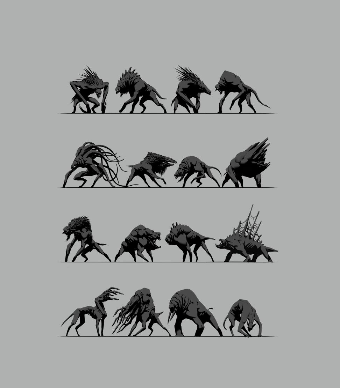 concept art conceptart game concept art GameConceptArt silouette sketch