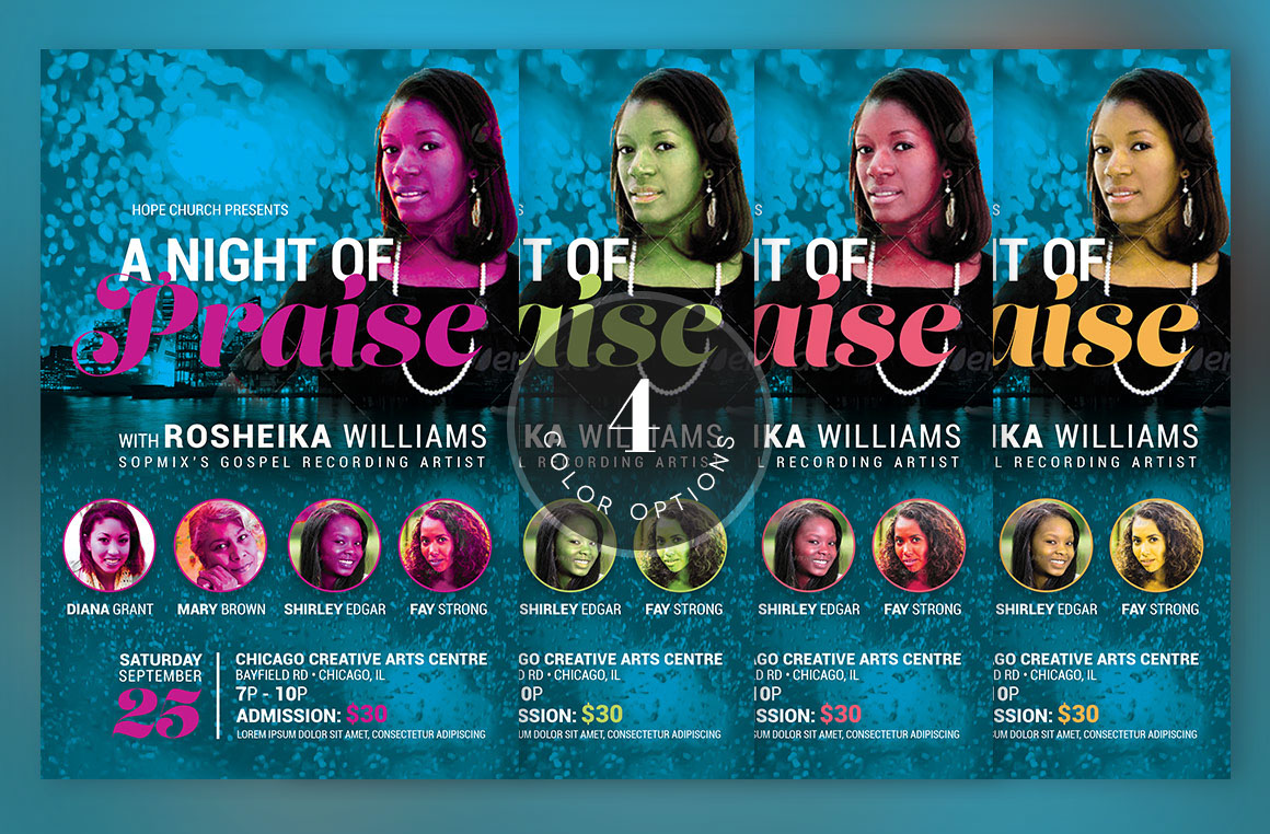 worship concert church flyer flyers worship concer on behance worship concert church flyer template is for any kind of gospel church concert event album release and more the modern design light friendly colors