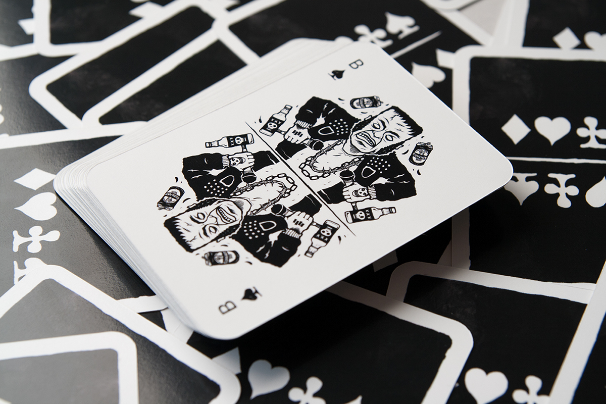 artwork Poker joker Kartenspiel Bube Dame König ass deck of cards jack knave queen king ace Wolpertinger