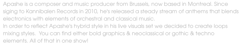 apashe dubstep neoclassic techno octane visuals loops VJ